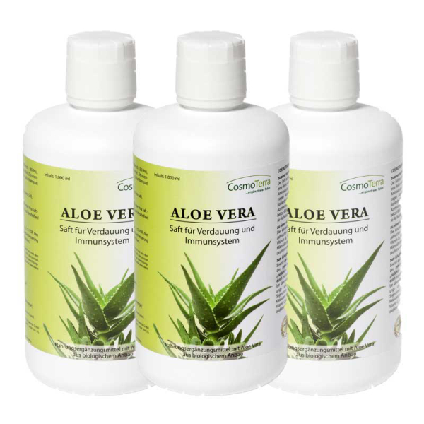 cosmoterra aloe vera saft 3x1000ml kaufen. Black Bedroom Furniture Sets. Home Design Ideas