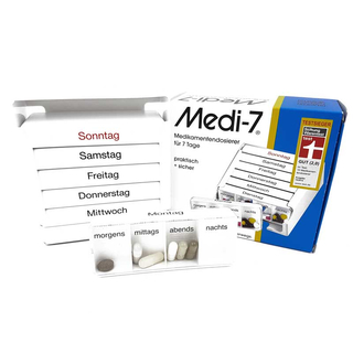 Medi-7 Drug Dispenser white