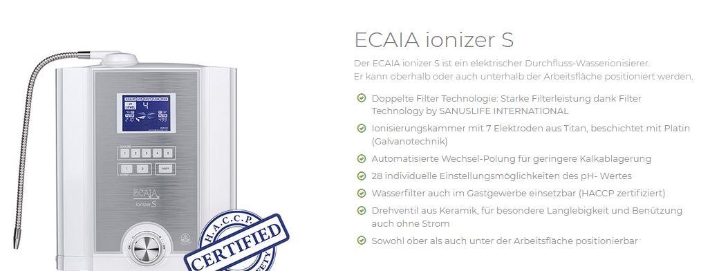 Sanuslife ECAIA ionizer S